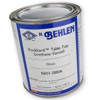 BEHLEN ROCKHARD TABLE TOP URETHANE VARNISH - QT. - GLOSS