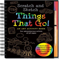 PETER PAUPER PRESS 3394 THINGS THAT GO SCRATCH & SCETCH