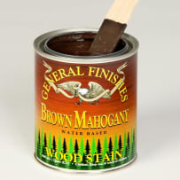 GENERAL FINISHES WYPT WOOD STAIN WATER BASED BROWN MAHOGANY PINT