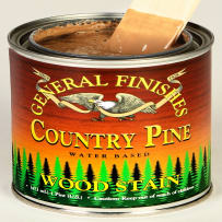 GENERAL FINISHES H2OWSCPPT WOOD STAIN WATER-BASED COUNTRY PINE PINT