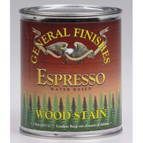 GENERAL FINISHES H2OWSESPRPT WOOD STAIN WATER-BASED ESPRESSO PINT