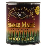 GENERAL FINISHES H2OWSSMPT WOOD STAIN WATER BASED SHAKER MAPLE PINT