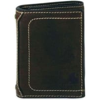 CARHARTT 61-2200-30 MENS MILLED PEBBLE TRIFOLD WALLET BLACK