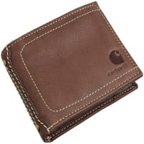 CARHARTT 61-2201-20 MENS PEBBLE LEATHER PASSCASE WALLET BROWN