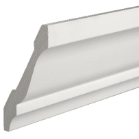 PARKSITE AZM49 AZEK 9/16-in x 3-5/8-in x 16-ft - 4-in Crown - Moulding 16-ft - White