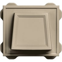 """Builders Edge 42485 4"""" Hooded Siding Vent (Clay)"""