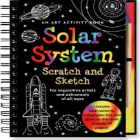 PETER PAUPER PRESS 917X SOLAR SYSTEM SCRATCH AND SCKETCH