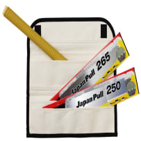 TAJIMA JPR-SET JAPAN PULL 4-PIECE SAW SET WITH CANVAS TRI-FOLD CASE