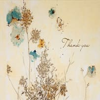 PETER PAUPER PRESS 8122 WATERCOLOR FLOWERS THANK YOU NOTES