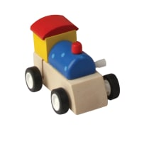 HOUSE OF MARBLES 220056 WIND-UP WOODEN TRAIN