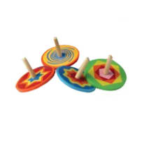 HOUSE OF MARBLES 220067 MINI WOODEN SPINNING TOP