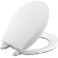 KOHLER K-7316-0 CACHET QUICK RELEASE WITH GRIP TIGHT WHITE ROUND FRONT TOILET SEAT