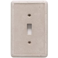 Questech Dorset Switch Plates Single Toggle 3-1/4x5 Travertine Cast Stone Resin