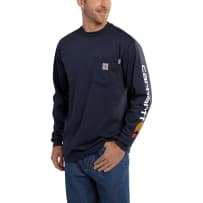 CARHARTT 101153-410 FR MED FORCE LONG SLEEVE GRAPHIC