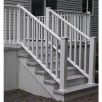 CertainTeed Kingston 8' Vinyl Stair Railing White W/Square Balusters