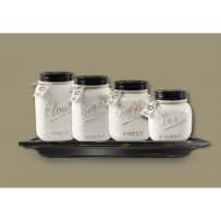 YOUNGS 15185 CERAMIC 4 PC CANISTER SET