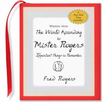 PETER PAUPER PRESS 9145 WISDOM ACCORDING TO MR ROGERS MINI BOOK