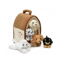 UNIPAK DESIGNS 7166DO PLUSH DOG HOUSE WITH DOGS