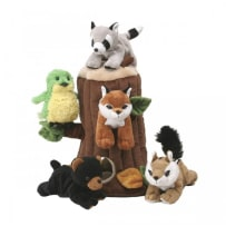 UNIPAK DESIGNS 7166TR PLUSH TREEHOUSE WITH FOREST ANIMALS