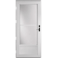 "Provia Deluxe 399 Self-Store 30"" Storm Door Snow Mist"