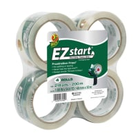 DUCK BRAND 280068 EZ START PACKAGING TAPE CLEAR 1.88 IN X 54.6 YD 4PACK