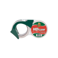 DUCK BRAND 284807 HD CLEAR HIGH PERFORMANCE PACKAGING TAPE WITH DISPENSER 1.88 IN X 54.6 YD 2 PACK