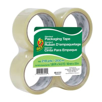 DUCK BRAND 240974 STANDARD PACKAGING TAPE CLEAR 1.88 IN X 54.6 YD 4PACK