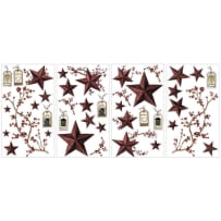YORK WALLCOVERINGS RMK1276SCS COUNTRY STARS & BERRIES APPLIQUES
