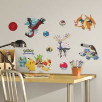 YORK WALLCOVERINGS RMK2625SCS MULTI POKEMON XY PEEL AND STICK WALL DECALS