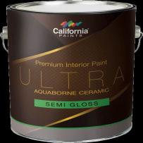 CALIFORNIA PAINTS 75701 WHITE GL ULTRA AQUABORNE CERAMIC SEMI-GLOSS WHITE GALLON