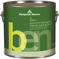 BENJAMIN MOORE W627 1X QT BEN SEMI-GLOSS (TYPE 1X) TINTABLE BASE QUART