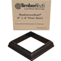 TimberTech AZT4X4PSKIRTB Black Express Composite Post Skirt 4x4