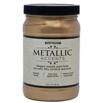 RUSTOLEUM 253537 QT METALLIC ACCENTS SOFT GOLD