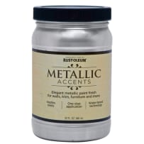 RUSTOLEUM 253534 QT METALLIC ACCENTS STERLING SILVER