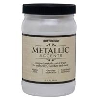 RUSTOLEUM 253611 QT METALLIC ACCENTS WHITE PEARL