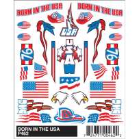 WOODLAND SCENICS P462 BORN IN THE USA STICK-ON DECALS