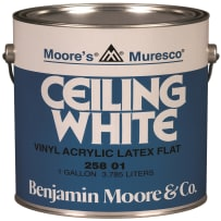 BENJAMIN MOORE 025801-GL MURESCO CEILING WHITE GALLON