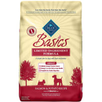 BLUE BUFFALO 596231 11 LB BASICS LTD INGREDIENT SALMON & POTATO GRAIN-FREE ADULT DRY DOG FOOD