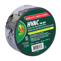 DUCK BRAND 673753 HVAC FOIL TAPE FOR FLEXIBLE DUCTS SILVER 1.88 IN X 120 YD