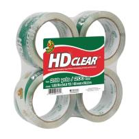 DUCK BRAND 240378 HD CLEAR HEAVY DUTY PACKAGING TAPE CLEAR 1.88 IN X 54.6 YD 4PACK