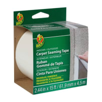 DUCK BRAND 442063 INDOOR/OUTDOOR CARPET STEAMING TAPE WHITE 2.44 IN X 15 FT