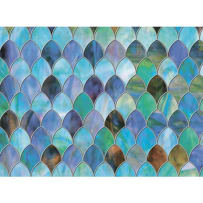 BREWSTER WALLCOVERING PF0702 PEACOCK PREMIUM WINDOW PRIVACY FILM
