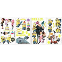 YORK WALLCOVERINGS RMK2080SCS DESPICABLE ME 2 PEEL & STICK WALL DECALS