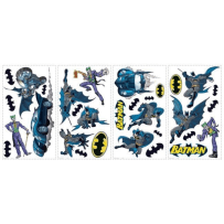 YORK WALLCOVERINGS RMK1148SCS BATMAN GOTHAM GUARDIAN PEEL & STICK WALL DECALS BLACK