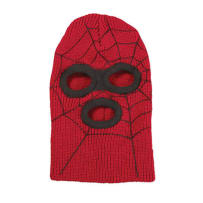 BRONER 62-67 KIDS SUPERHERO KNIT FACE MASK RED