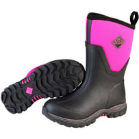 MUCK BOOTS AS2M-400 ARCTIC SPORT II MID BOOT BLACK/PINK SIZE 10