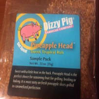 DIZZY PIG  PINEAPPLE HEAD BBQ RUB SAMPLE