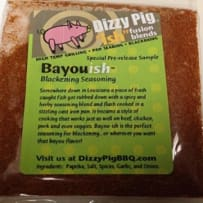 DIZZY PIG  BAYOU-ISH BBQ RUB SAMPLE