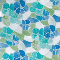 BREWSTER WALLCOVERING 3460213 BLUE AND GREEN STAINED GLASS WINDOW FILM