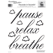 YORK WALLCOVERINGS RMK0039SS PAUSE RELAX BREATHE QUOTABLE WALL DECAL